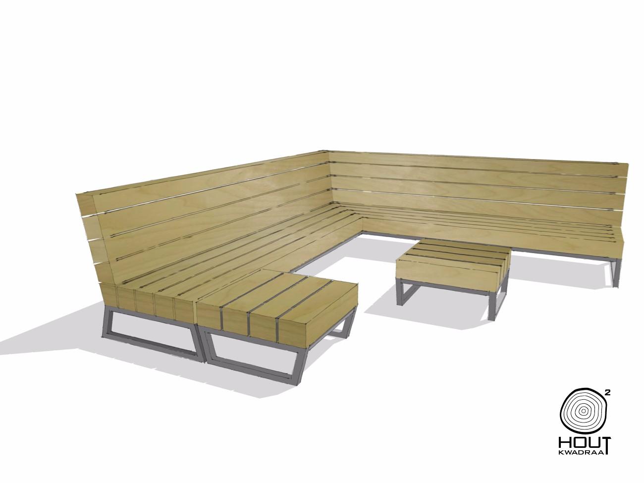 Een tuin loungebank op maat laten maken heerlijk wonen - Massief idee van tuin ...