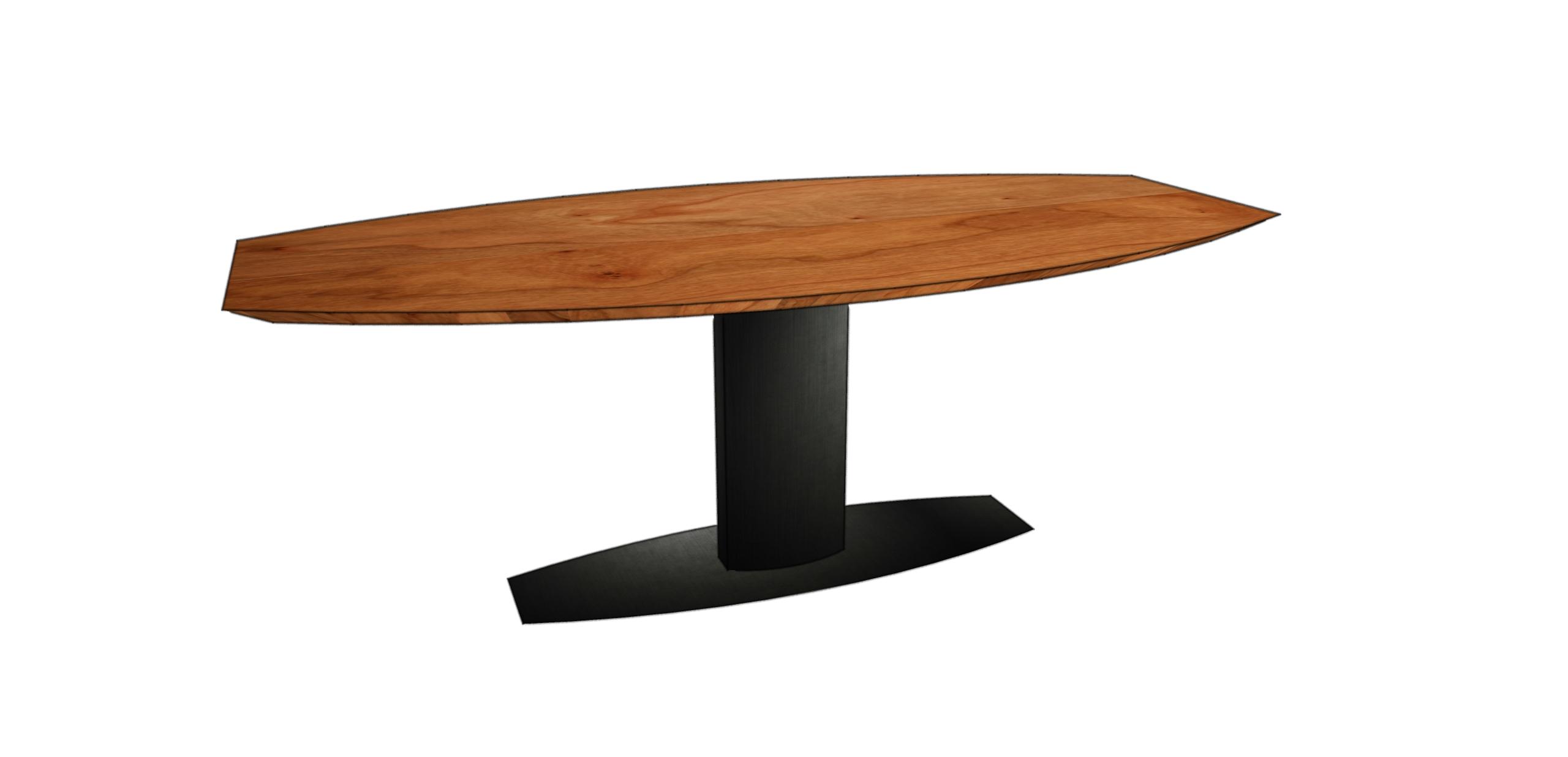 ovale houten eettafel