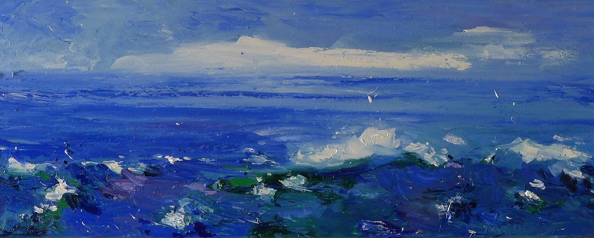 Ingrid Dingjan Rough water 30x80 cm kopie